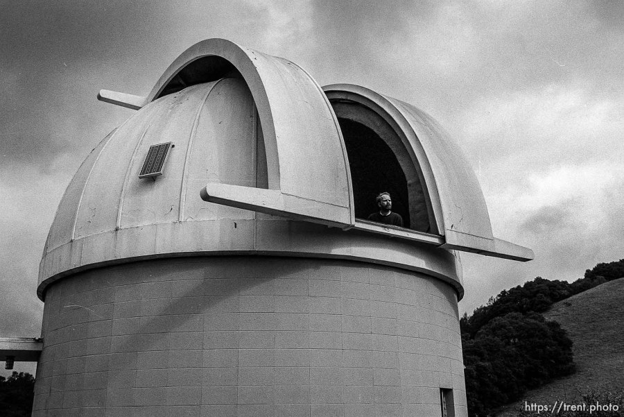 Man in observatory