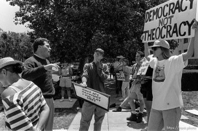 Anthony Quayle as Protest Boy at abortion protest.