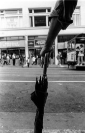 Man's arm and umbrella
