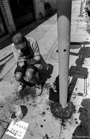 Beggar on Melrose Avenue