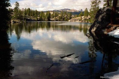 Sword Lake on solo hike to Sword Lake