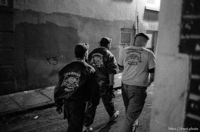 Mark on patrol with Guardian Angels.