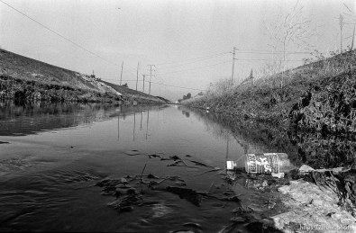 Jolt bottle in Creek. San Ramon project