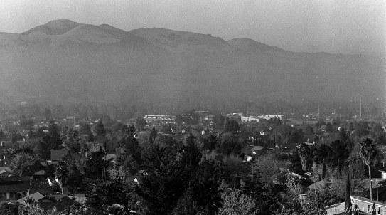 View of homes from hill. San Ramon project
