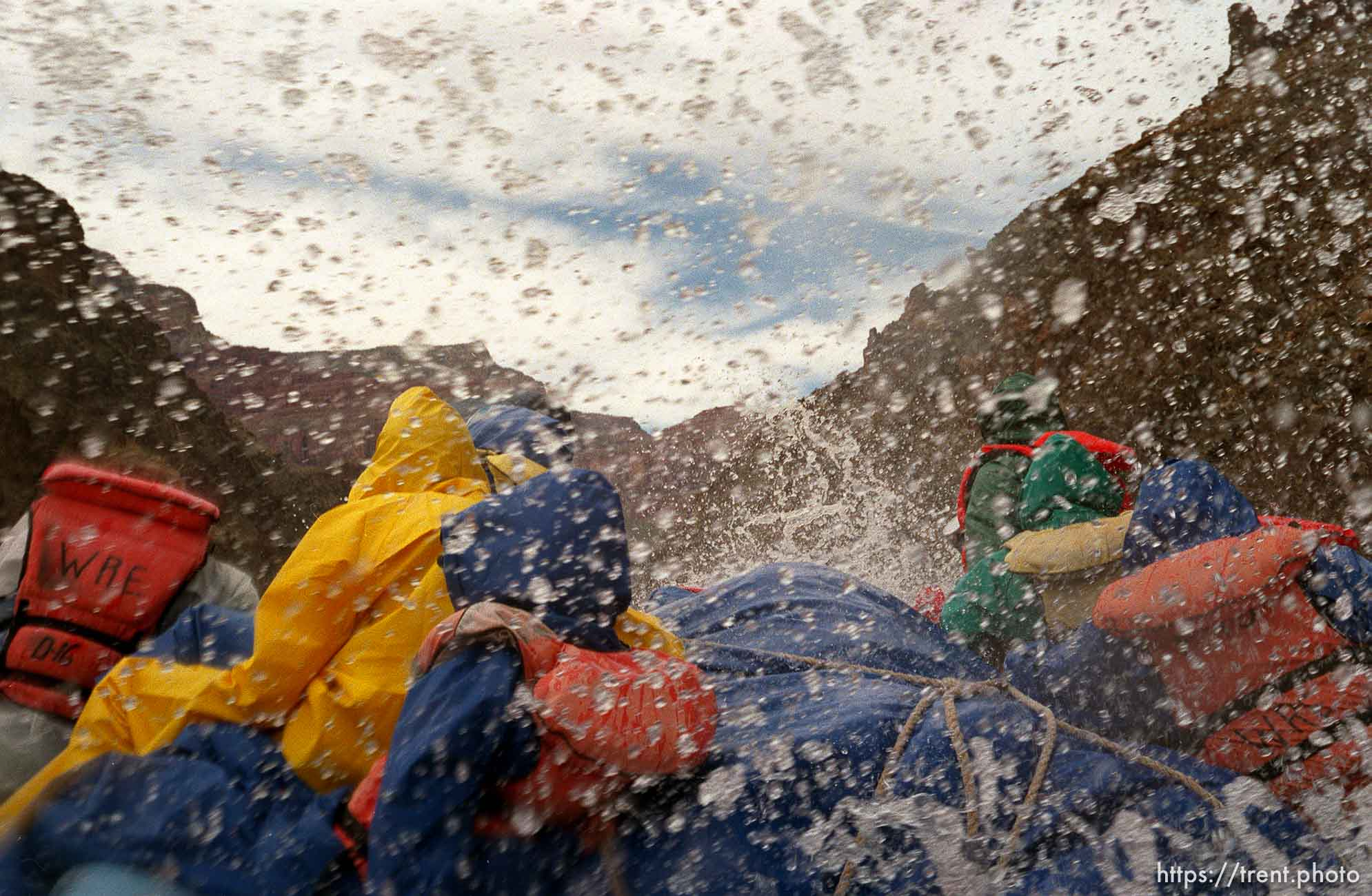 Whitewater rafting. Grand Canyon flood trip.