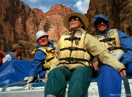 People on raft. Grand Canyon flood trip.