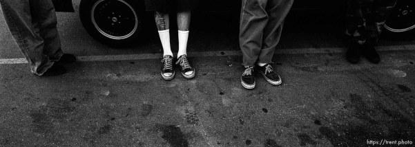 Hardline straightedge kids' feet.
