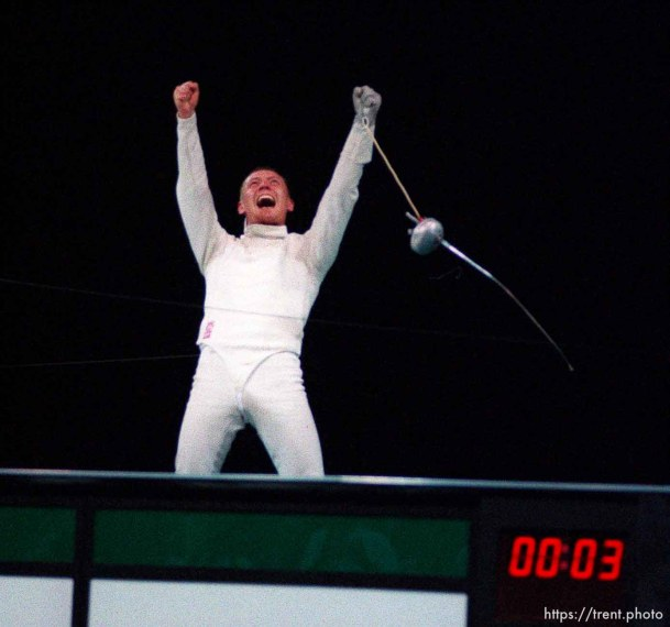 Russian fencer wins gold medal in fencing at the 1996 Summer Olympic Games