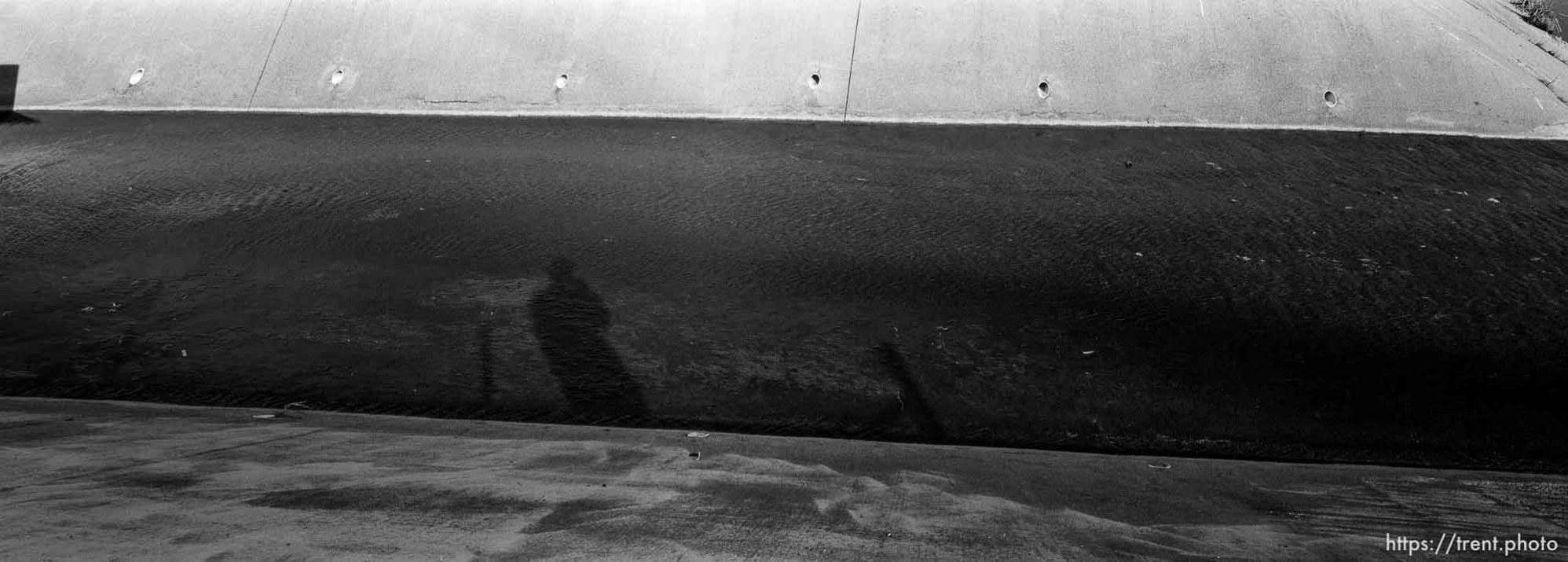 Trent shadow and view of San Ramon Creek.