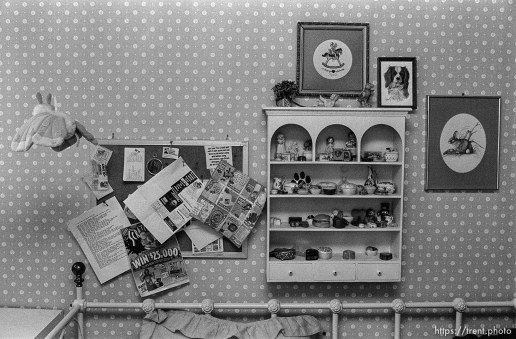 Stuff on the wall in April Nelson's room.