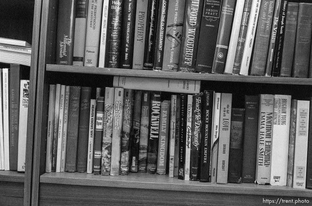 Books in the Nelson home.