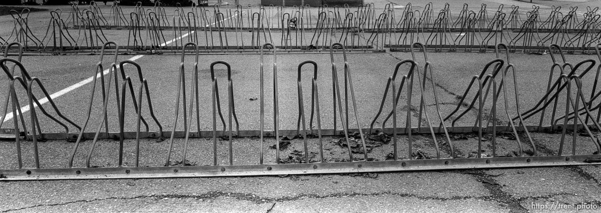 Bike racks at Walt Disney Elementary School.