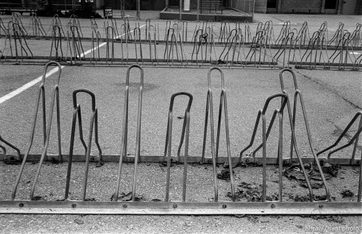 Bike racks at Walt Disney Elementary