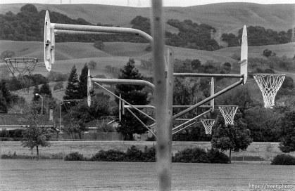 Basketball hoops at Walt Disney Elementary