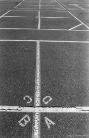 Four-square courts at Walt Disney Elementary