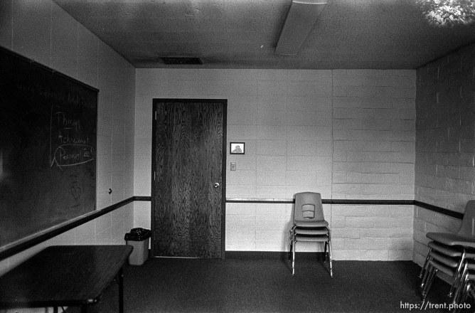 classroom at LDS Chapel
