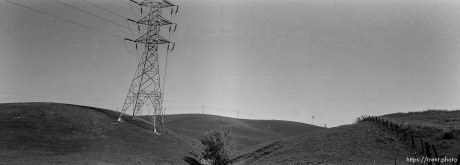 Power line and hills