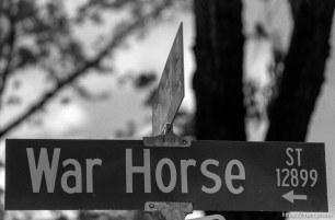 War Horse St sign
