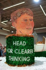 Detail of 4H float at the preview of floats for the Days of '47 Parade.
