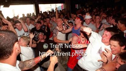 Mosh pit at Madball at Brick's Club.