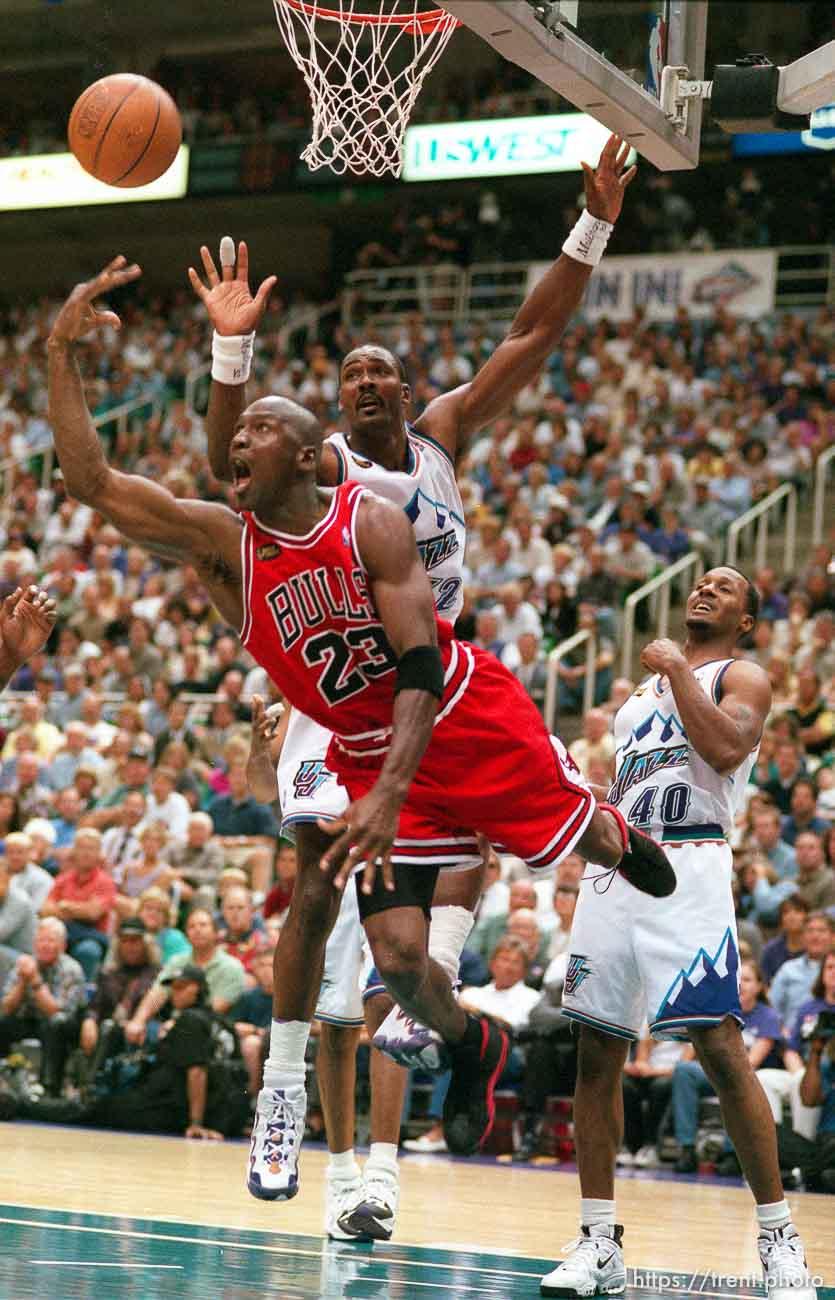 Utah Jazz v Chicago Bulls, NBA Finals Game One   Trent.Photo