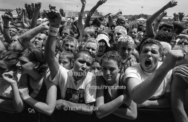 Fans at Dropkick Murphys at the Vans Warped Tour.
