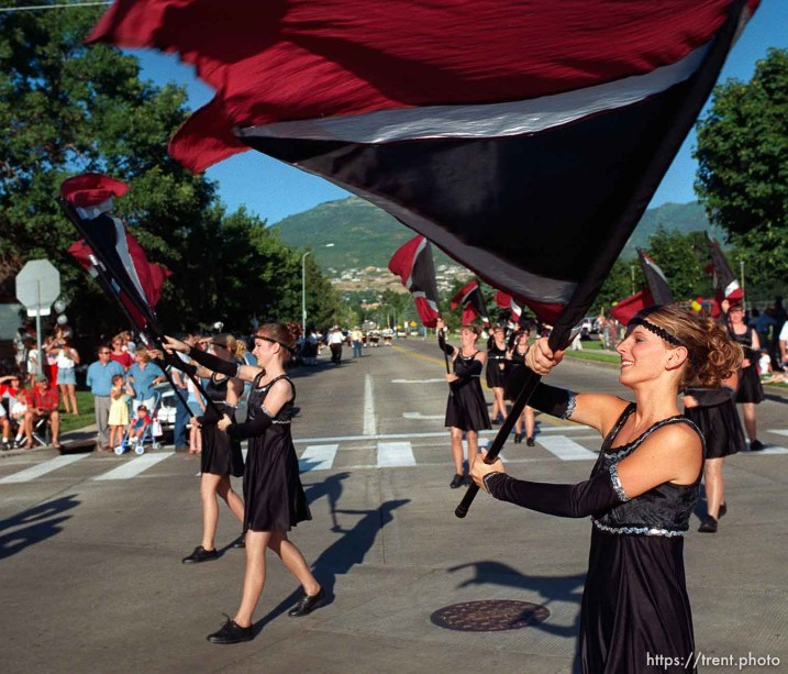 The Pineview High School color guard in the Bountiful Hand-Cart Festival Parade