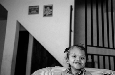 Doris smiles. Formerly conjoined twins, Bessy and Doris Gonzales.