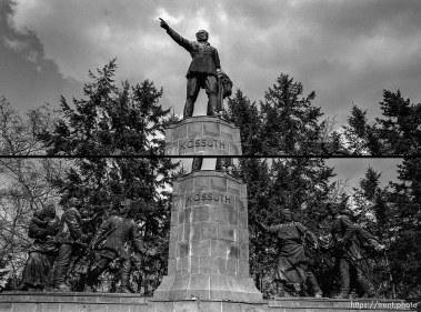 Middle of war memorial