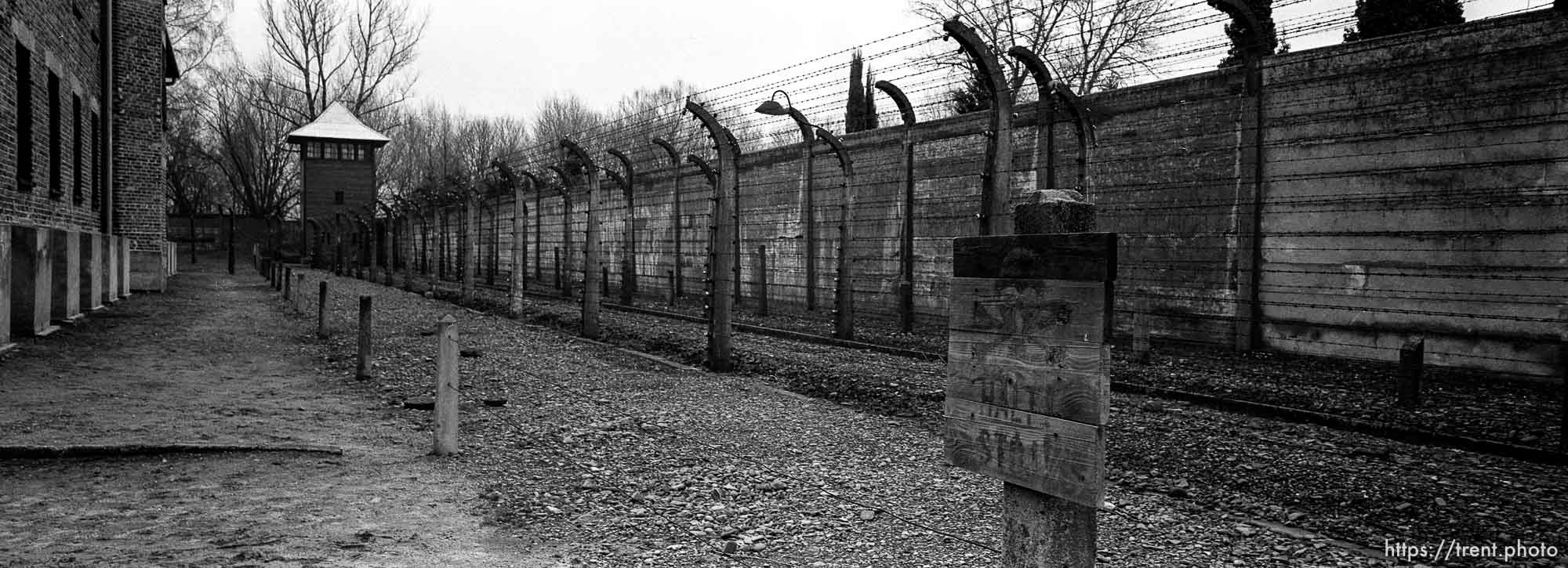at the Auschwitz Concentration Camp.