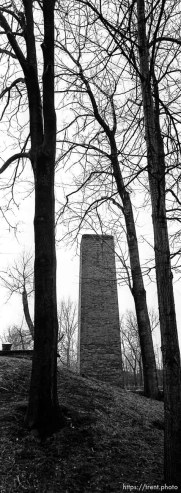 Chimney of crematoria at the Auschwitz Concentration Camp.