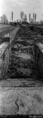 Destroyed gas chamber at the Birkenau Concentration Camp.