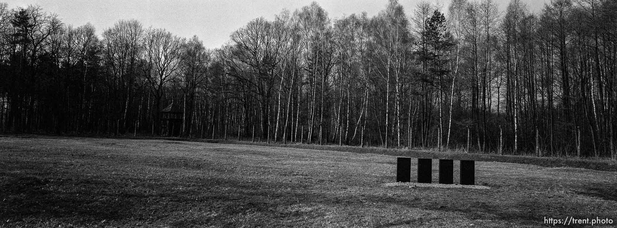 Field where bodies were burned at the Birkenau Concentration Camp.