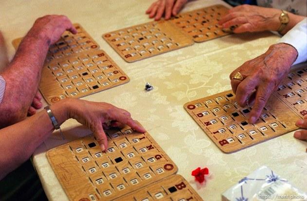playing Bingo at the Midvale Seniors Center.
