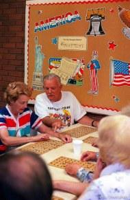 Marvin Johnson playing Bingo at the Midvale Seniors Center.