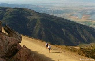 Runners at Francis Peak. Wasatch 100 Endurance Run.