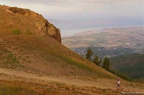 Runners near Francis Peak. Wasatch 100 Endurance Run.