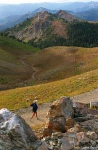 Runner near Francis Peak. Wasatch 100 Endurance Run.