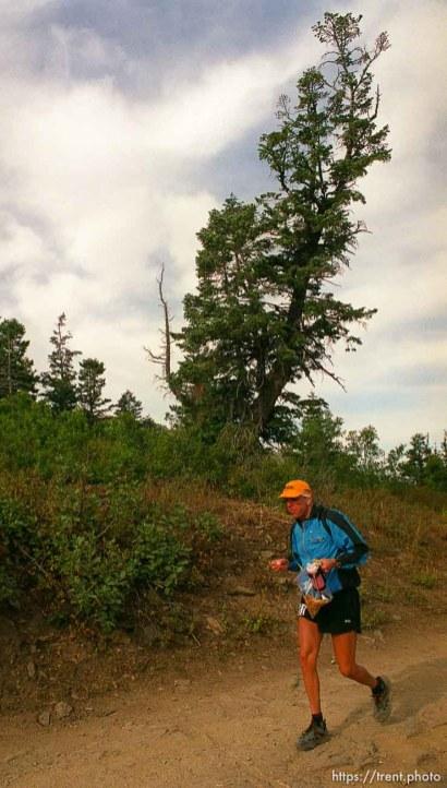 Dave Tavernini. Runner near Francis Peak. Wasatch 100 Endurance Run.