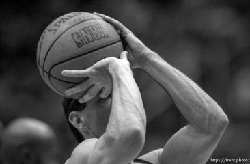 John Stockton at Jazz vs. Miami Heat.
