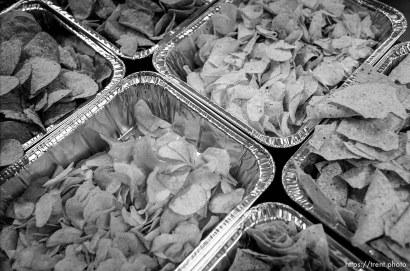 Chips Thanksgiving dinner at the Salt Lake City Mission.