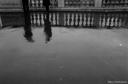 Street scene in rain
