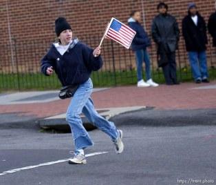 People out to see the Olympic Torch relay as it passes through Washington DC. 12.21.2001, 2:31:02 PM