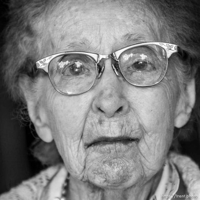 Maurine Burmester, 100, SLC. The 16th annual celebration of Utah's Centenarians at the Governor's Mansion. ; 05.29.2002, 9:44:38 AM