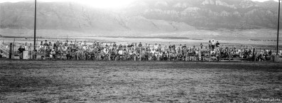 crowd pan sequence. Round Valley Rodeo.