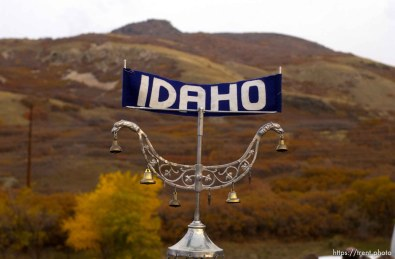 """Ogden - Trophy with """"Idaho"""" on it. The Davis Cup Invitational Marching Band Competition Tuesday evening at Stewart Stadium, Weber State University. 10.22.2002, 5:55:31 PM"""