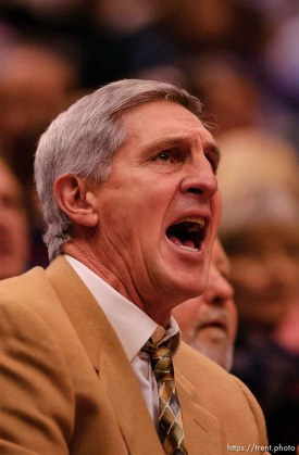 coach jerry sloan. Salt Lake City - Utah Jazz vs. the Milkwaukee Bucks Friday night at the Delta Center.
