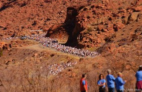 The 29th annual Canyonlands Half Marathon, which runs along the Colorado River on Highway 128 and into Moab.