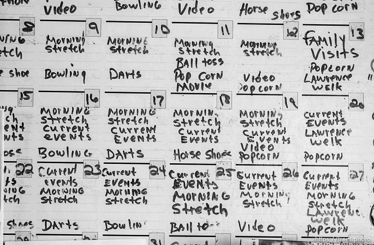 The event calendar at Hennefer Home