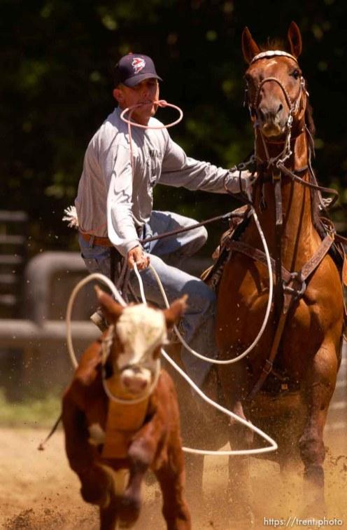 Nate Baldwin, calf-roper
